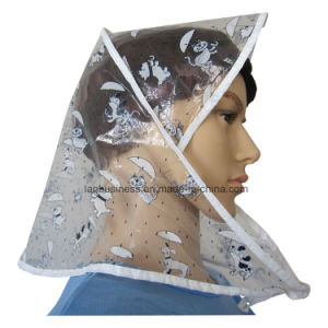 PE Rain Bonnet with Lovely Small Pets Pattern pictures & photos