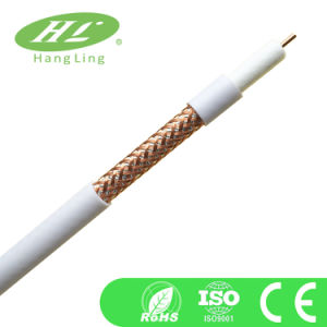 64% Coverage Coaxial Cable 11vatc (RG11) with CE, RoHS Certification