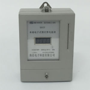 Single Phase Digital Electricity Meter of Prepaid Energy Meter Type pictures & photos