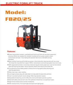 2.5ton Eletric Forklift with Certificates pictures & photos