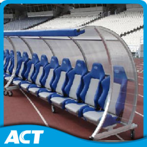 China Vip Portable Player Dugout Bench With Shelter For