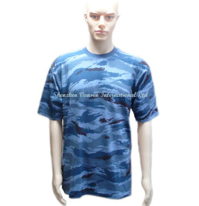 Cheap High Quality Blank Camo T Shirt Made in China pictures & photos