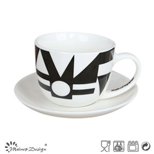 Black Simple Decal 3oz Cup & Saucer pictures & photos