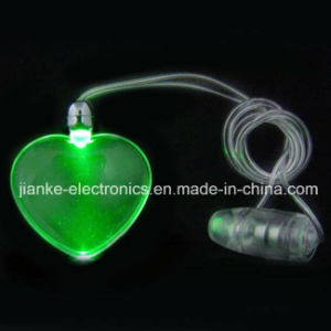 Promotional LED Glowing Heart Necklace with Logo Print (2001)