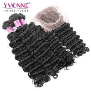 Brazilian Hair Bundles with Lace Closure pictures & photos