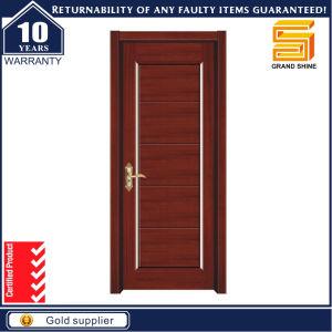 MDF PVC Veneer Laminated Interior Solid Wooden Door pictures & photos