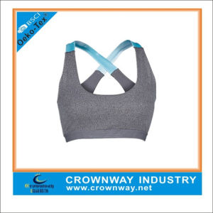 Wholesale Moving Comfort Yoga Sports Bra with Cross Back Strap pictures & photos