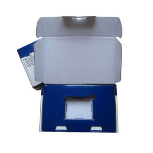Corrugated Blue Box for OEM Order with Flat Pack
