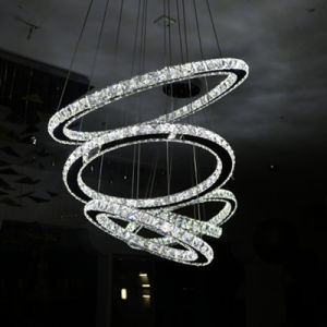 Hotel Decorative Luxury K9 Clear Crystal Round Pendant Lamp pictures & photos