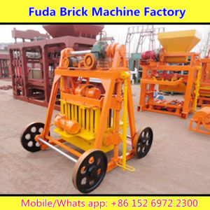 Wheel Movable Concrete Brick Making Machine Without Pallet pictures & photos