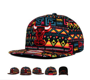Colorful Embroidery Logo Flat Snapback Cap pictures & photos