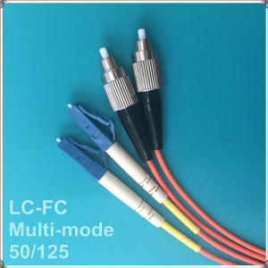 LC-FC 50/125 Fiber Optic Patch Cord pictures & photos