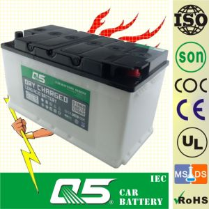DIN100 12V100AH, Dry Charged Car Battery with Long Life Time Service pictures & photos