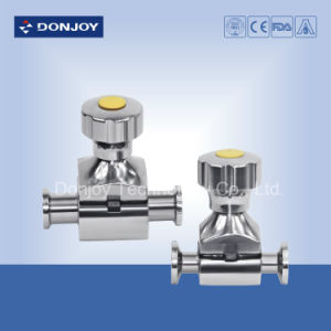 Mini Type Direct-Way Diaphragm Valve with Ss Handwheel (Clamp Ends) pictures & photos