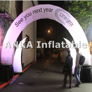 Customized Inflatable LED Light Archway for Events in Night pictures & photos