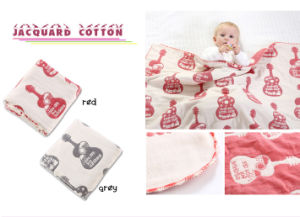 "Wholesale New Jacquard Cotton Baby Blanket 30""*40"" pictures & photos"