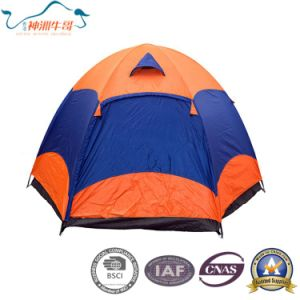 Double Layer Hexagon Colorful Outdoor Tent