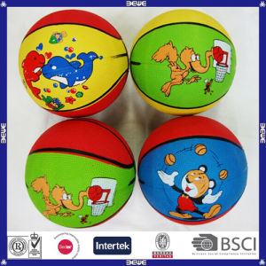 Eco-Friendly Factory Cheap Price Low Price Colorful Rubber Basketball for Kids pictures & photos
