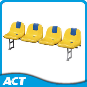 PP Injection Molded Stadium Chair with Advertisement Plate pictures & photos
