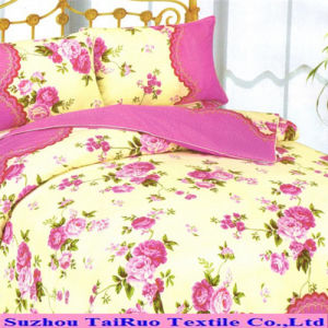 Printed Peach Skin Fabric for Curtain and Bed Sheet pictures & photos
