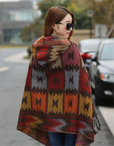 Wholesale Women Winter Warm Cashmere Scarf Shawl pictures & photos