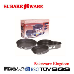 3 PCS Springform Sets Carbon Steel Nonstick Bakeware (SL BAKEWARE)