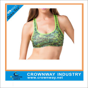 Women Yoga Wear Sublimation Printing Sports Bra with Racerback pictures & photos
