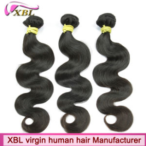 Chemical Free Human Hair Virgin Peruvian Hair Weft pictures & photos