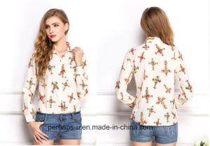 Grace Design Long Sleeve Ladies Chiffon Shirt pictures & photos