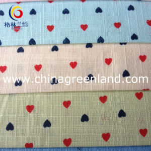 Cotton Imitate Linen Printed Fabric for Garment Textile (GLLML098) pictures & photos