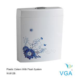 Toilet Water Tank with Toilet Flush Valve Fill Valve Wj812b