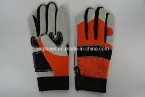 Cow Leather Glove-Labor Glove-Reinforce Palm Glove-Working Glove pictures & photos