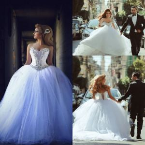 Arabic Luxury Bridal Ball Gowns Crystal Wedding Dresses Z5041 pictures & photos