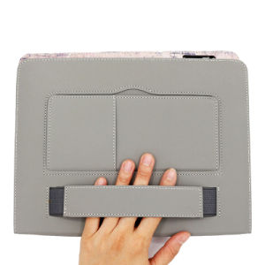 Iron Tower Hand Hold Card Holder Tablet Leather Cases for iPad pictures & photos