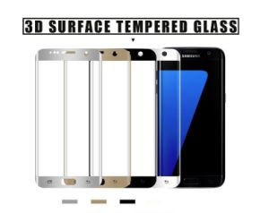 3D Curved 9h Full Cover Tempered Glass Screen Protector 0.33mm Black Color Anti-Fingerprint Protective Phone Film for Samsung Galaxy S7 Edge pictures & photos