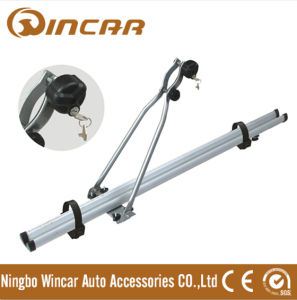 4WD Automobile Upright Aluminium Roof Bike Carrier for Locking up 1 Bicycle