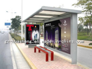 Bus Shelter with Stainless Metal (HS-BS-D029) pictures & photos