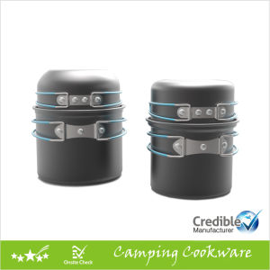 Outdoor Cookware Set Cooking Pot for Camping pictures & photos