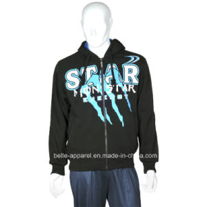 Men′s Good Quality Full Zipper Polyester Print Hoodies pictures & photos