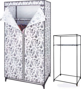 Stylish Protable Beautiful Korean Fan Non-Woven Wardrobe