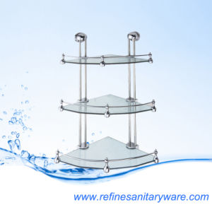 Sanitary Ware Stain Bathroom Shelves and Rack Glass Shelf (R2203CJ)