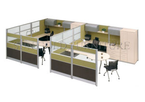 latest technology 2 person workstation with head cabinet partition szwst691