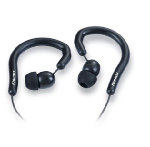 Black Stereo in Ear Headphone Earphone Ear Hook for iPhone HTC