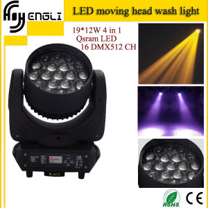 19PCS*12W 4in1 Zoon Moving Head Wash Light (HL-004BM) pictures & photos