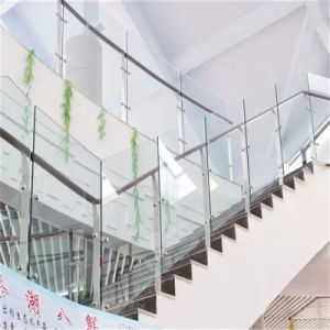 Ss with Tempered Glass Fencing Handrail for Office Building