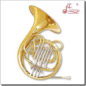 F 3keys Gold Lacquered Standard Single French Horn pictures & photos