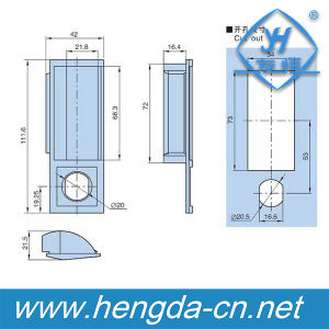 Yh9462 High Quality Plastic Cabinet Fitting Plastic Handle pictures & photos