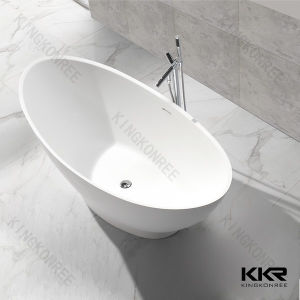 White Solid Surface Sanitary Ware Freestanding Bathtub pictures & photos