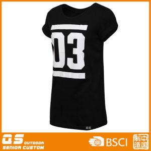Women′s Fashion Big Print Long T-Shirt pictures & photos