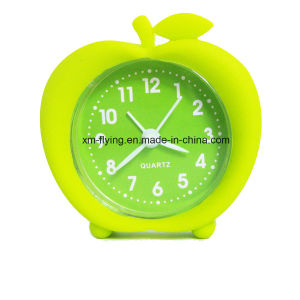 Factory Direct Printing Logo Jelly Silicone Table Alarm Clock pictures & photos
